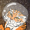 Tiger in Space Screensaver
